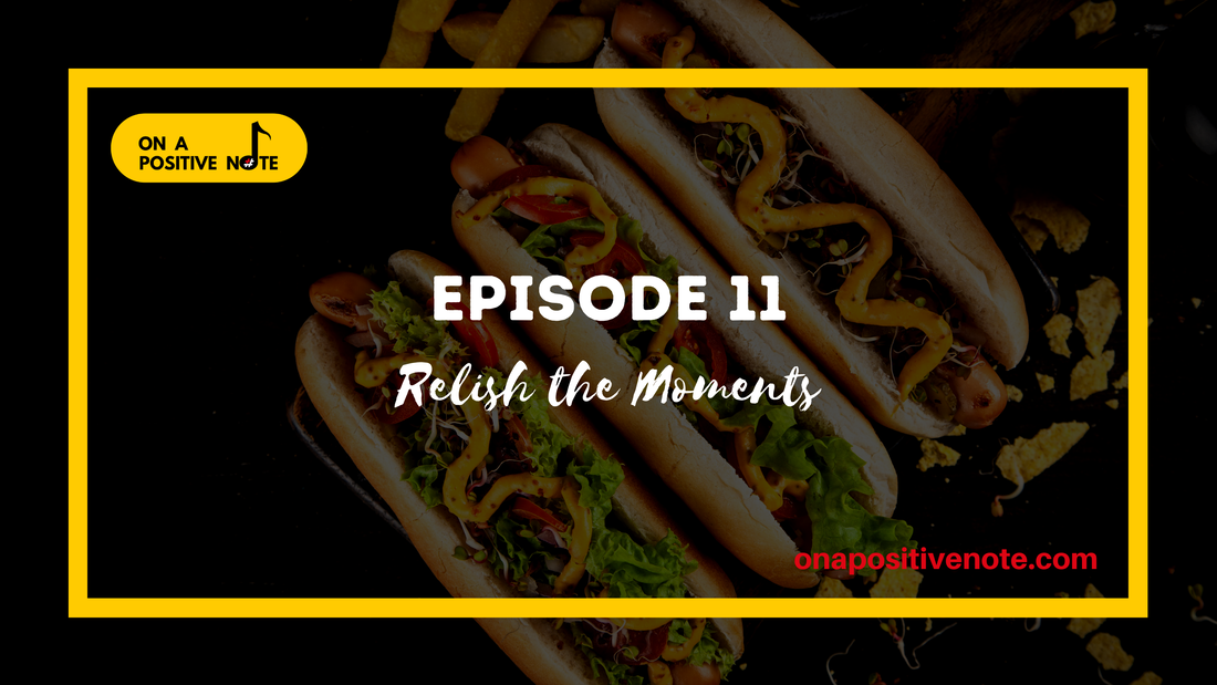 Episode 11 Cover: Three hotdogs covered in condiments